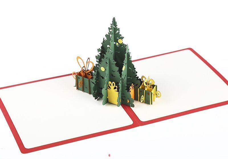 """Объемная открытка """"Елка с подарками"""""""