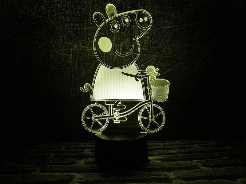 """Светодиодный светильник 3D """"Свинка Пеппа"""""""