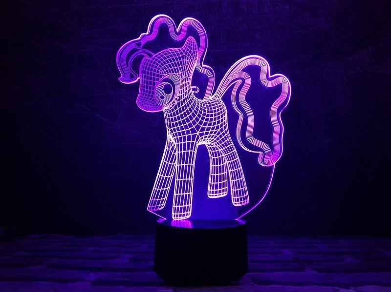 """Светодиодный светильник 3D """"My Little Pony"""""""