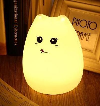 """Мягкий силиконовый светильник """"Веселый котенок"""""""
