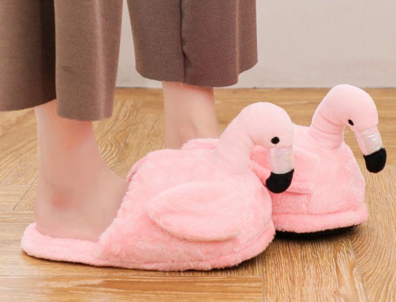 """Тапочки комнатные """"Фламинго розе"""", светлый"""