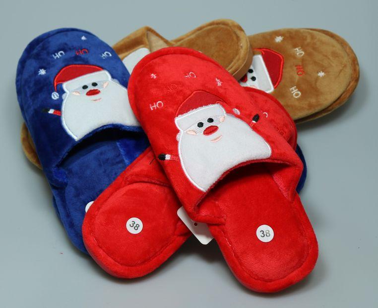 """Тапочки домашние """"Дед Мороз"""", красный"""