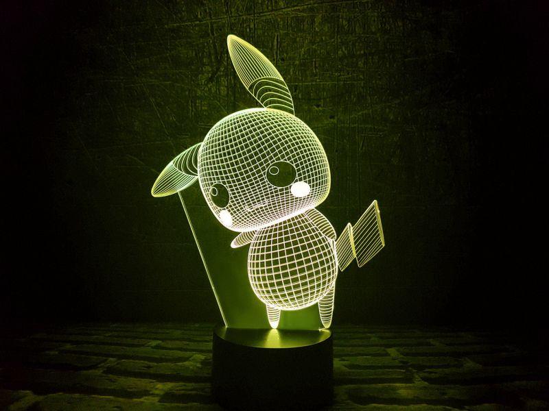 """Сенсорный светильник 3D """"Пикачу"""""""