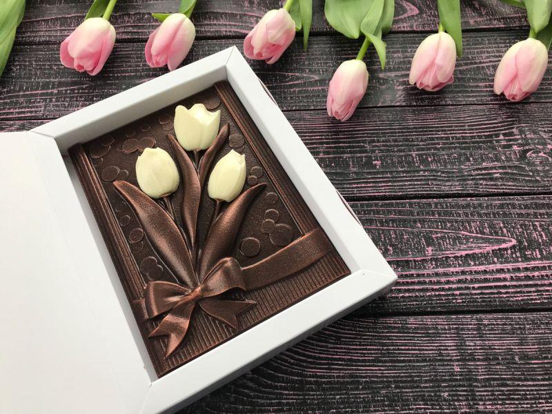 "Шоколадные тюльпаны ""8 Марта"""