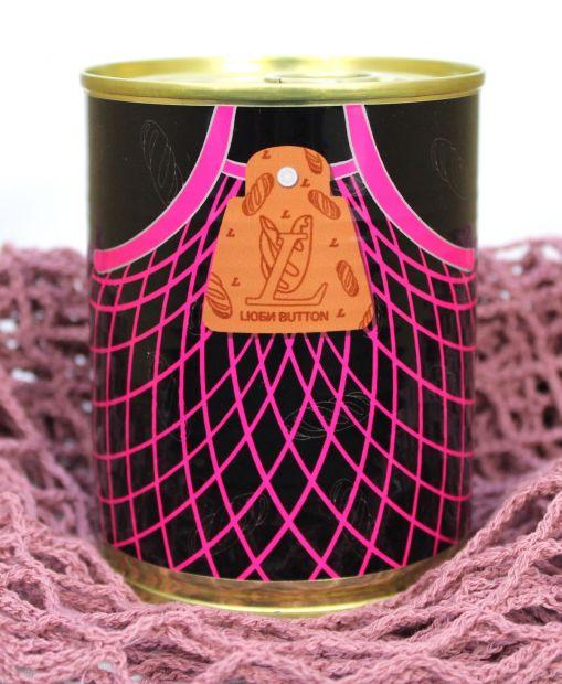 Эко-сумка, авоська LЮБИ BUTTON в банке консервированная (розовый)