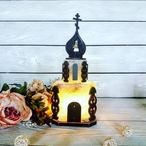 """Соляной светильник """"Церковь"""" (маленькая) 5 кг"""