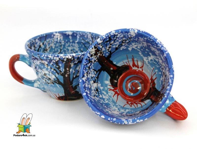 Чашка керамическая 0.5л. (61) (ручная работа)