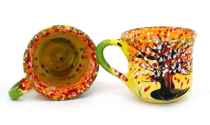 Чашка для кофе керамическая 0.1 л, (17)