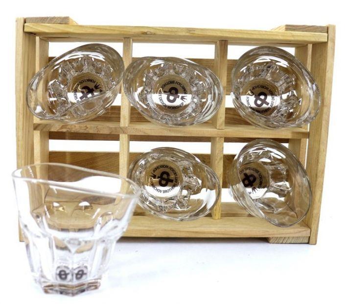 """Пьяные стаканы-рокс """"Виски со льдом"""" набор 6 шт в ящичке"""
