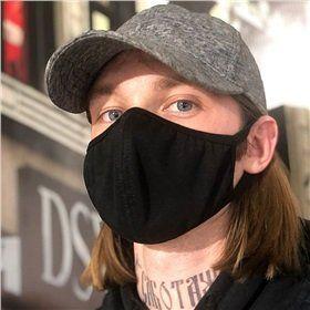 Простая хлопковая маска для лица, черная