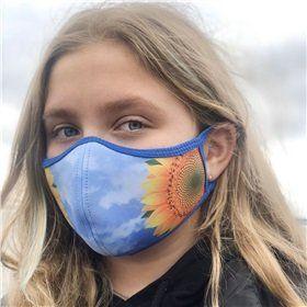 """Яркая защитная маска для лица"""" Подсолнух"""", неопрен"""