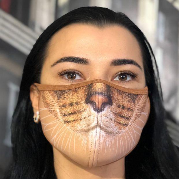 """Креативная маска для лица с принтом """" Beautiful Cat"""""""