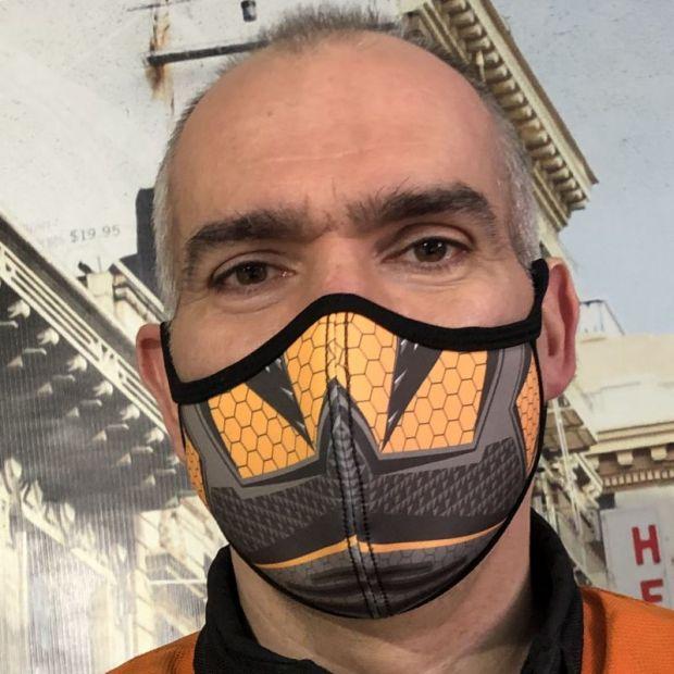 "Маска защитная  ""Sport Reflex "" оранж"