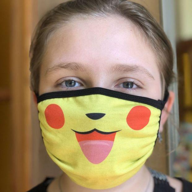 """Прикольная защитная маска """" Пикачу"""""""