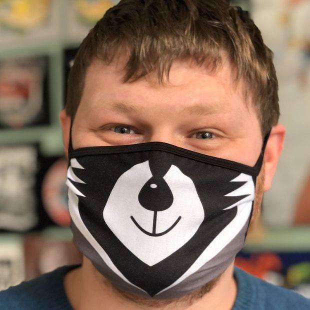 """Прикольная защитная маска """" Енотик"""""""