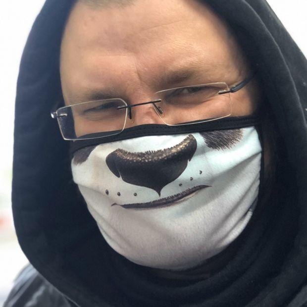 """Прикольная защитная маска """" Панда"""""""