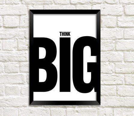 """Мотивационный постер в офис """"Think big"""""""