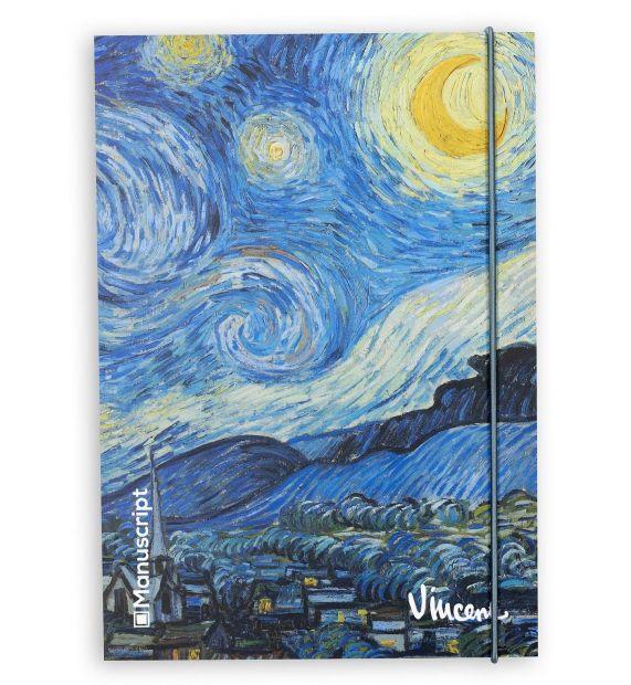 """Скетчбук для зарисовок  """"Звездная ночь"""" Виенсент ван Гог плюс"""