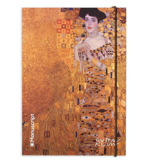 """Оригинальный скетчбук """"Золото Климта"""" -портрет Адель Блох-Бауэр,поцелуй. плюс"""