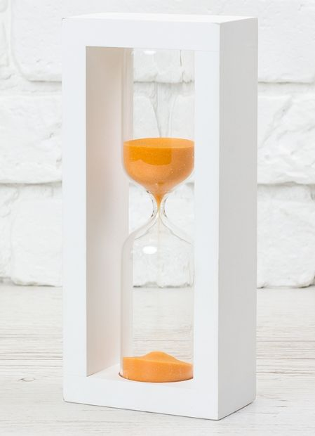 Оригинальные песочные часы, 30 мин.(оранжево-белые)