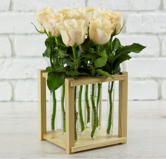 """Креативная ваза - подставка для цветов """"Лаборатория красоты"""", на 9 цветов"""