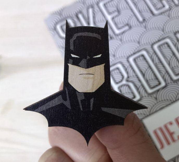 """Пин. значок из дерева """"Batman"""""""