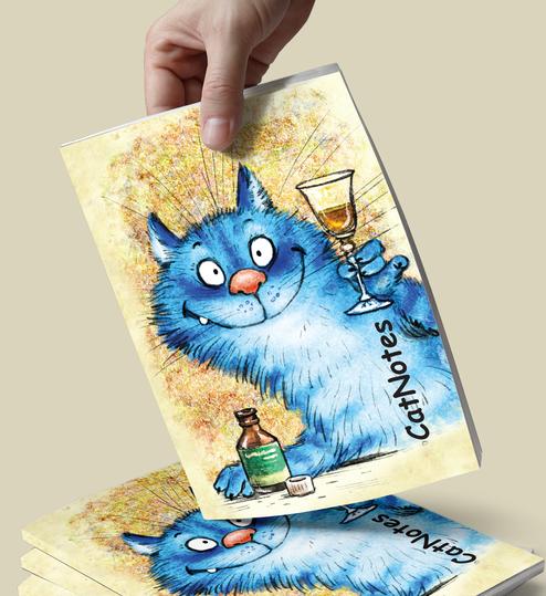 """Творческий блокнот """"Кот подружку ждет"""""""