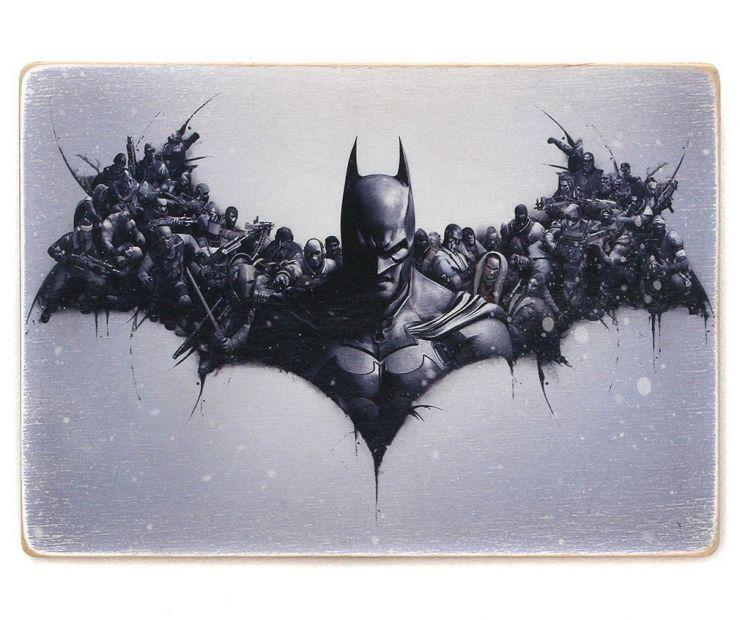 """Постер деревянный """"Batman"""""""