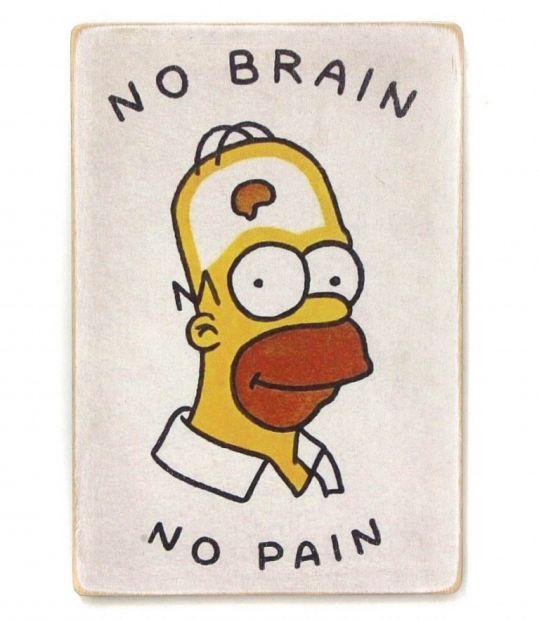 """Постер деревянный """"Без боли"""""""