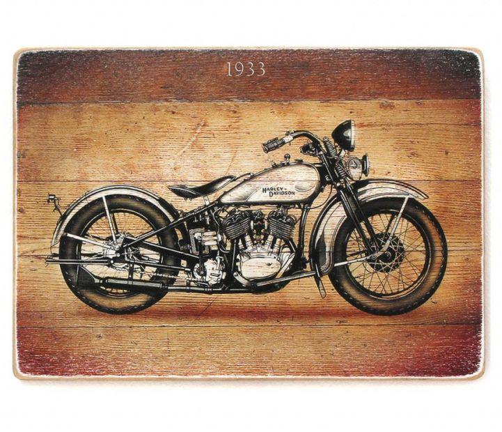 """Постер деревянный """"Легенда Harley-Davidson"""""""