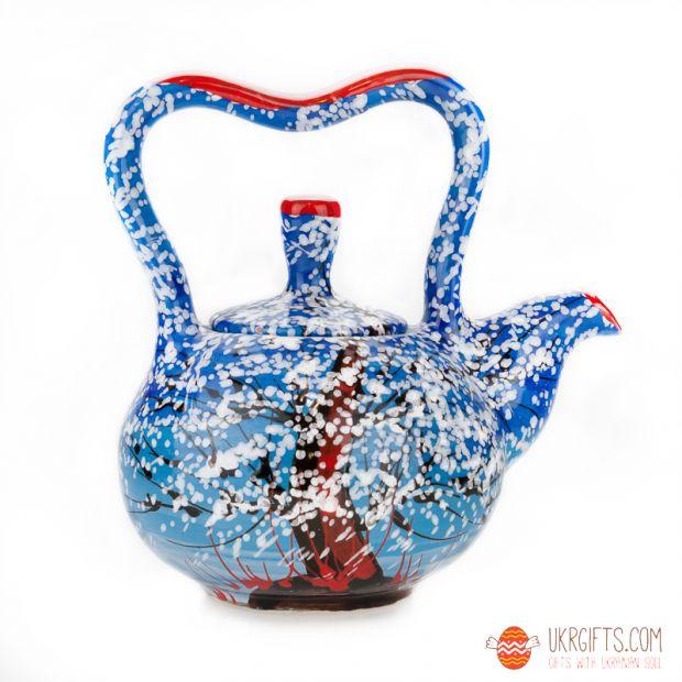 Чайник керамический (08) (ручная работа)