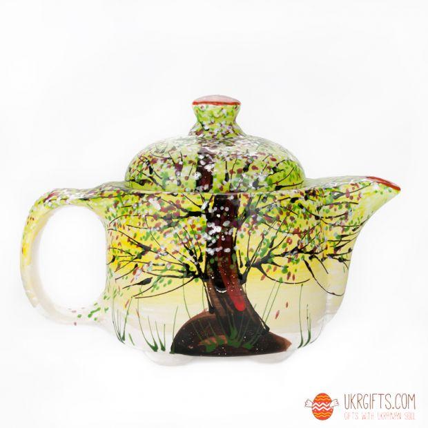 Чайник керамический (11) (ручная работа)