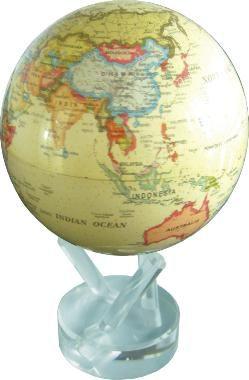 Самовращающийся глобус MOVA GLOBE ATE-P (с политической картой мира в античном стиле) 12 см