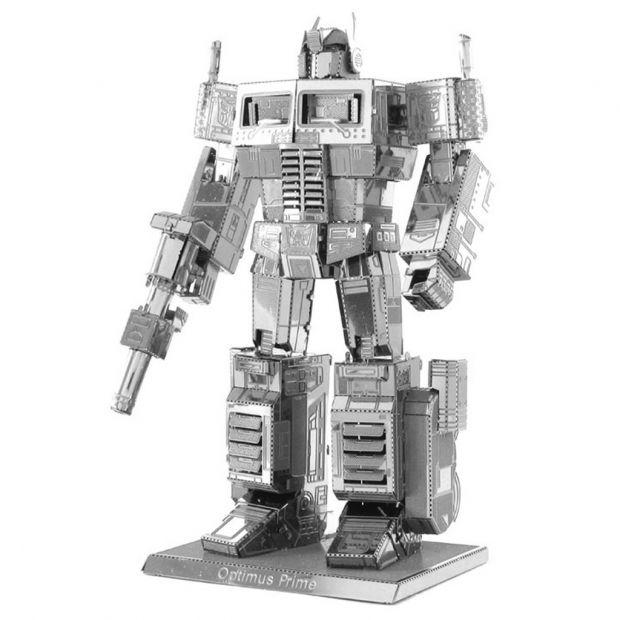 Optimus Prime - 3D модель для сборки, металлический паззл