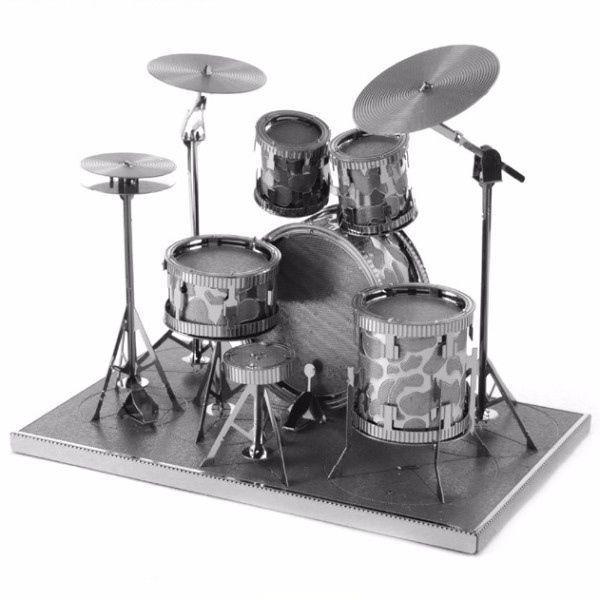 Барабанная установка - 3D модель для сборки, металлический пазл