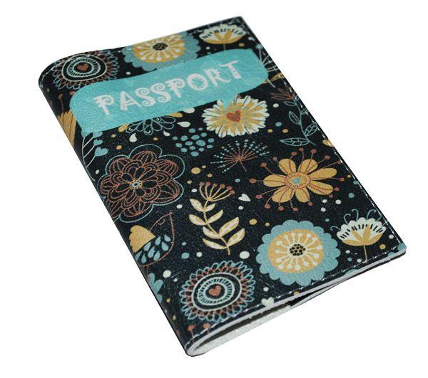 """Обложка для паспорта """"Игривая"""" (натур. кожа)"""