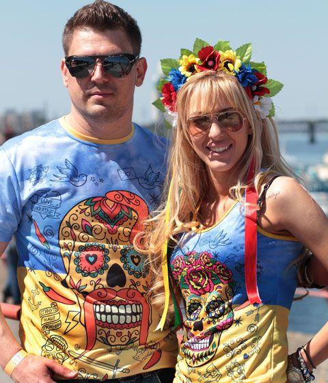 "Футболка и майка ""Украинские черепушки"" (полная запечатка)"