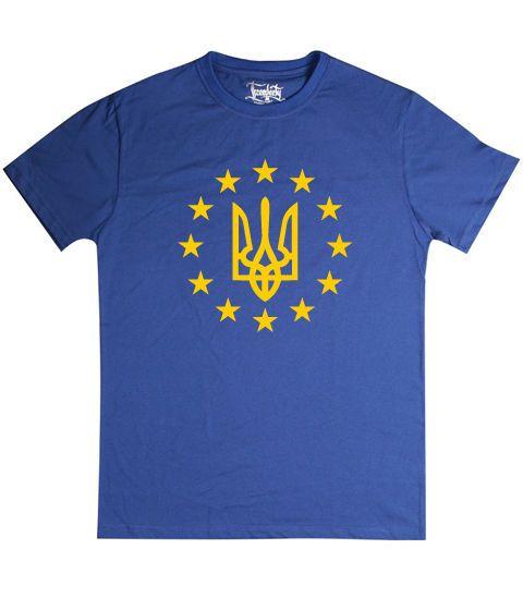 """Футболка с украинской символикой """"Украина в Европе"""""""