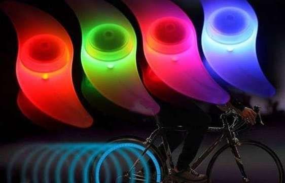 Подсветка на спицы велосипеда Yu-Yu (2 шт - на 2 колеса)