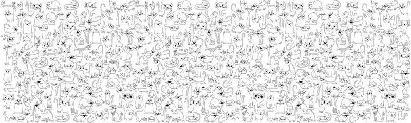 """Обои-раскраски """"Веселые Коты"""" 60х200 см"""