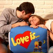 """Подушка """"Love is"""" XXL"""