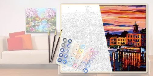 "Набор для рисования ""Пейзаж"" (картина по номерам) (КН2203)"