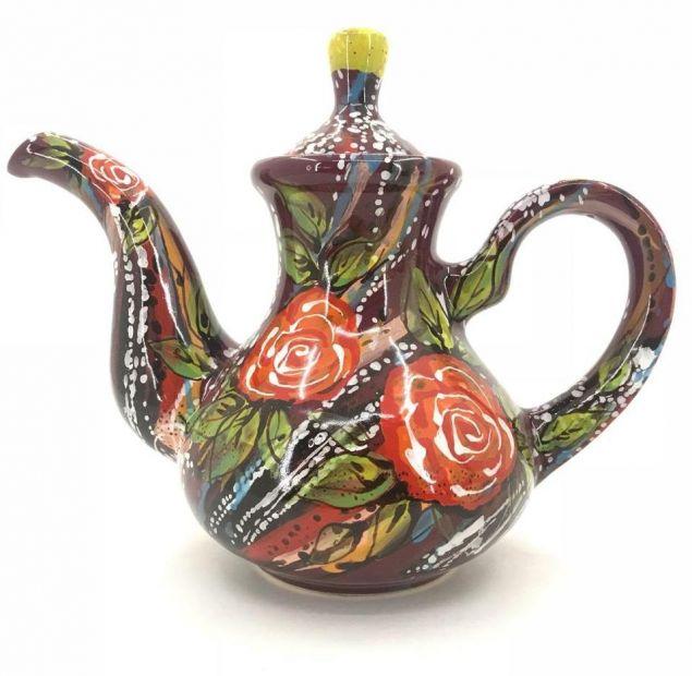 Чайник керамический. (82) (ручная работа)
