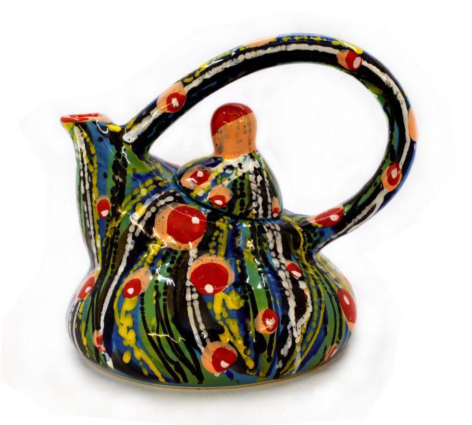 Чайник керамический (27) (ручная работа)