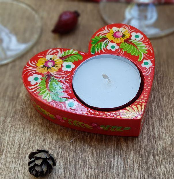 """Подарок на день Святого Валентина - Подсвечник """"Сердце"""""""