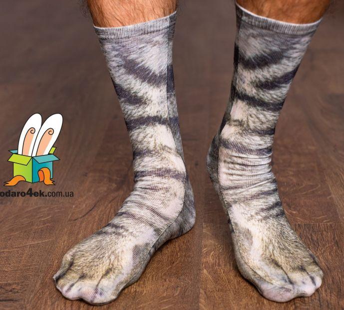 """Дикие носки """"Лапы серого кота"""""""
