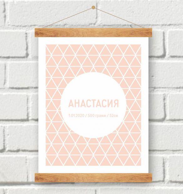 Постер на рождение девочки