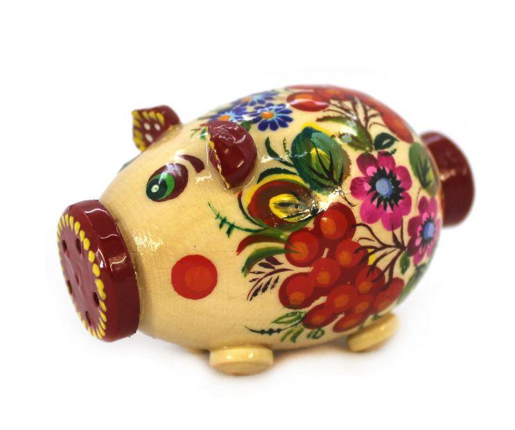 Свинка-солонка с Петриковской росписью (05), разные цвета