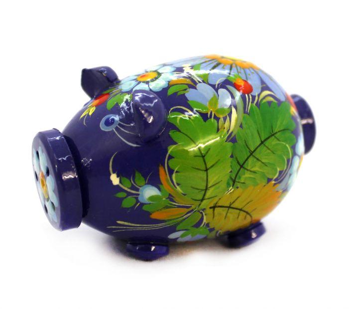 Свинка-солонка с Петриковской росписью (01), разные цвета