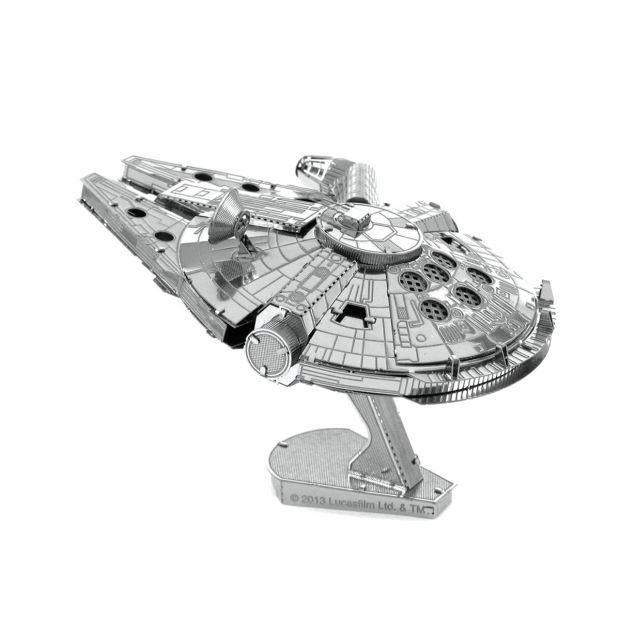 Сокол тысячелетия -3D модель для сборки, металлический конструктор, серия Star Wars